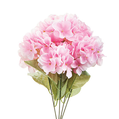 Pink Spring Hydrangea Flower Bush, 17 inches