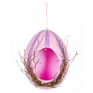 Hanging Easter Egg: Pink/Purple