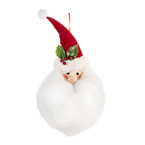 Light Up Santa Head Decor: Polyester, 7.9 x 17.7 inches