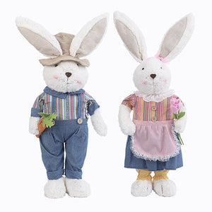 Plush Standing Bunny Decor: 34 inches set