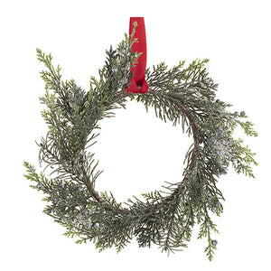 Pinecone Wreath: Snow, 12 inches