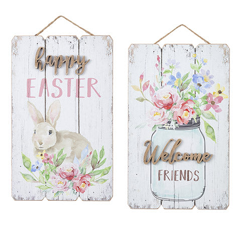 Fence Plank Easter Wall Decor, 9.25 x 15.25
