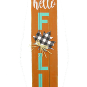 Wooden Hello Fall Maple Sign
