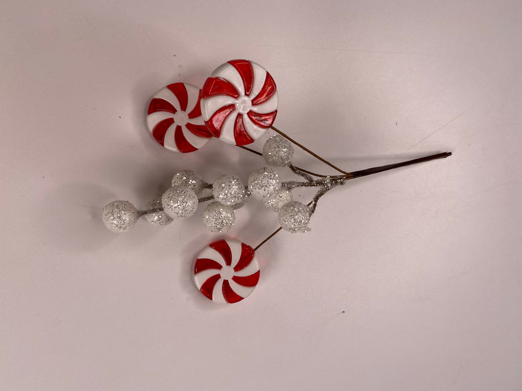 Peppermint candy pick
