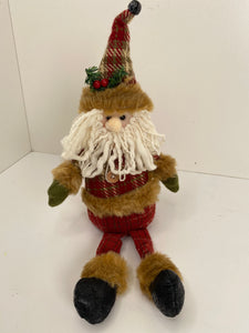 Country Santa sitting decor