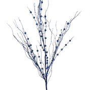 "Glitter Twig Spray 36""H Dark Blue"