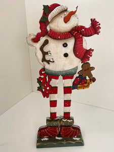 Snowman tabletop decor