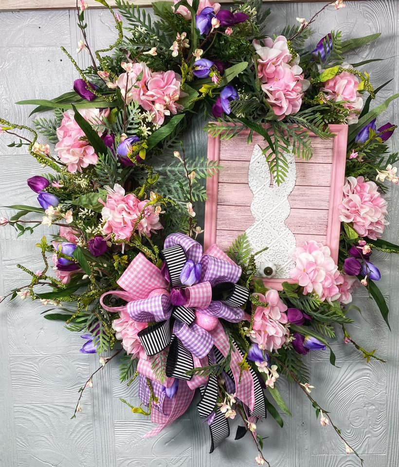 Easter Peter Cotton Tail Wreath