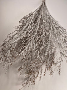 Snow iced glitter covered Twig bush