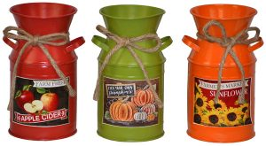 "8"" Metal Harvest Jars"