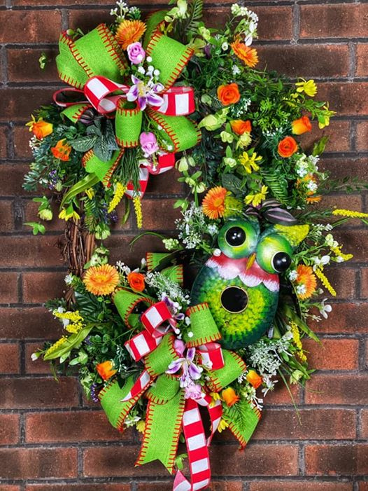 Summer Owl Wreath