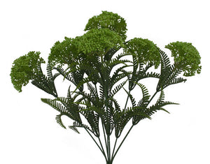 "17"" PLASTIC QUEEN ANNE'S LACE BUSH X 7"