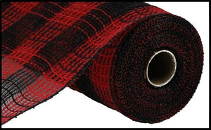 Faux Jute Red/Black