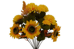 Sunflower Ball Mum Daisy Bush 3 Colors