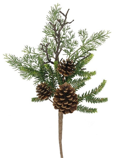 Pine W/Pinecone Pick