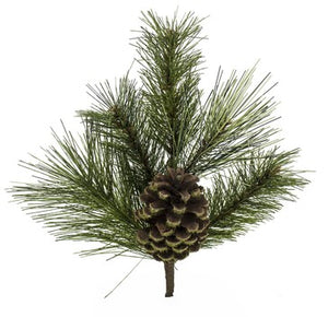 "16""PINE CONE/NEEDLE PINE MIX SPRAY"