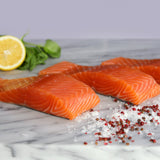 Fresh Salmon Portions, Lightly Smoked