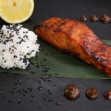 Miso Marinated Fresh Salmon,  Lightly Smoked For Baking