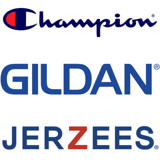 Champion Gildan Jerzees Logos