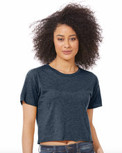 Load image into Gallery viewer, model wearing crop top t-shirt