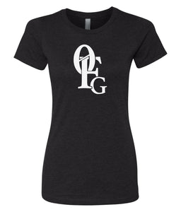 black 0FG crewneck women's t shirt