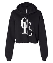 Load image into Gallery viewer, black 0FG crop top hoodie