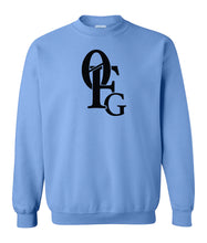 Load image into Gallery viewer, blue 0FG crewneck sweatshirt