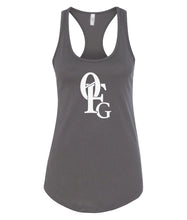 Load image into Gallery viewer, dark grey 0FG women's tank top