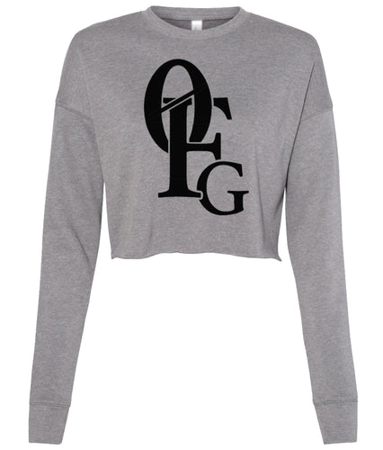grey 0FG cropped sweatshirt