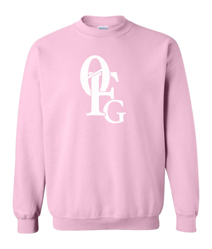 pink 0FG crewneck sweatshirt for women