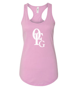 pink 0FG women's tank top