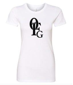 white 0FG crewneck women's t shirt