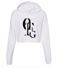 Load image into Gallery viewer, white 0FG crop top hoodie
