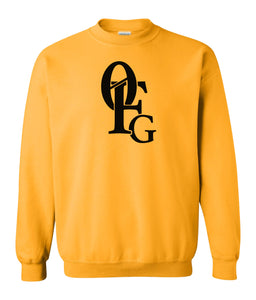 yellow 0FG crewneck sweatshirt