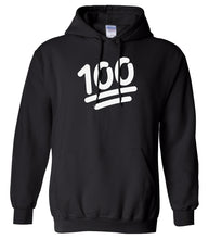 Load image into Gallery viewer, black 100 mens pullover hoodie