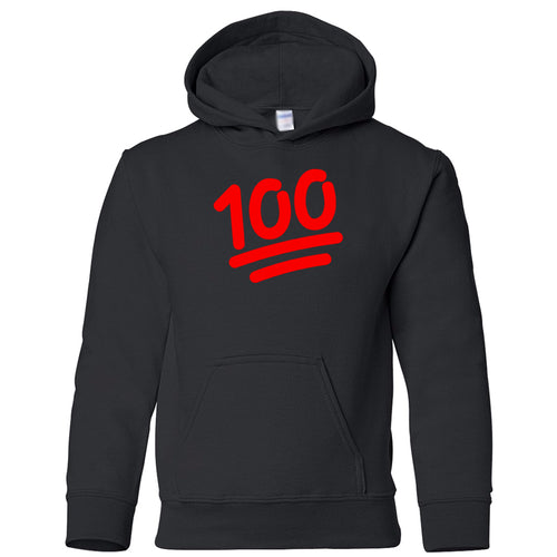 black 100 youth hooded sweatshirts for girls
