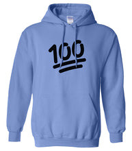 Load image into Gallery viewer, blue 100 mens pullover hoodie