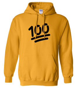 yellow 100 mens pullover hoodie