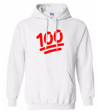 Load image into Gallery viewer, white 100 mens pullover hoodie