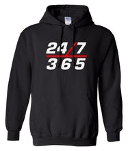 Load image into Gallery viewer, black 24/7 365 pullover hoodie