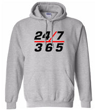 Load image into Gallery viewer, grey 24/7 365 pullover hoodie