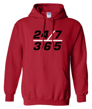 Load image into Gallery viewer, red 24/7 365 pullover hoodie