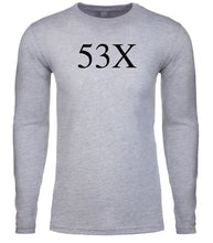 Load image into Gallery viewer, grey 53x mens long sleeve shirt