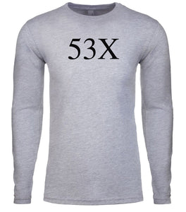 grey 53x mens long sleeve shirt
