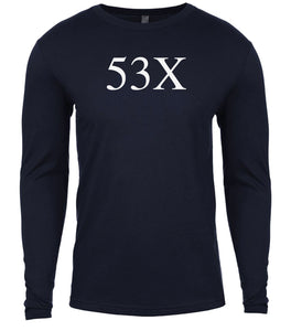 navy 53x mens long sleeve shirt