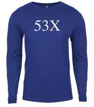 Load image into Gallery viewer, blue 53x mens long sleeve shirt