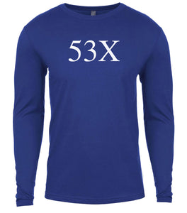 blue 53x mens long sleeve shirt