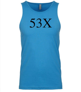 blue 53x mens tank top