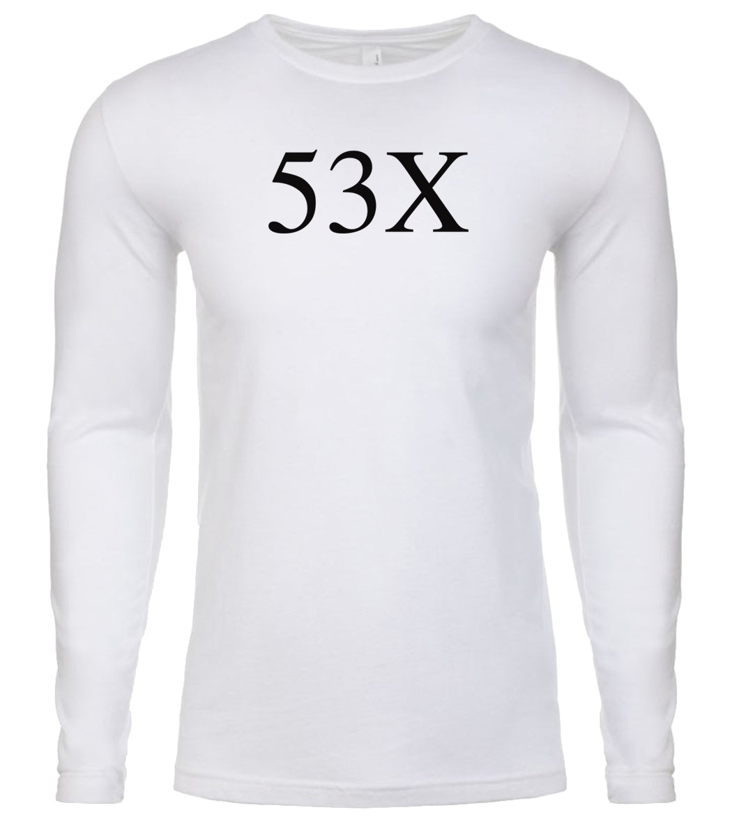 white 53x mens long sleeve shirt