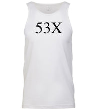 Load image into Gallery viewer, white 53x mens tank top